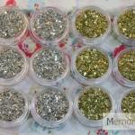เกร็ดเงินทอง คล้ายๆกระจกบด เหล็กบด 12 กระปุก