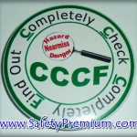 เข็มกลัด CCCF_Completely Check Completely Find out 58mm