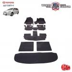 พรมรถยนต์ 6D Leather Car Mat จำนวน 7 ชิ้น TOYOTA WISH