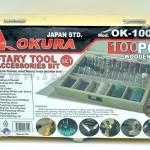 OKURA ชุดอุปกรณ์เสริมสำหรับ BSG135 กล่องไม้ OK-100HD 100ตัว/ชุด