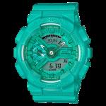 นาฬิกา คาสิโอ Casio G-Shock S-Series Vivid Colors รุ่น GMA-S110VC-3A (สี Aquamarine เขียวอมฟ้าเหลือบมุก) ของแท้ รับประกัน1ปี