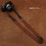 สายคล้องกล้องเส้นเล็ก Cam-in รุ่น Slim สีน้ำตาล 25 mm
