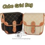 กระเป๋ากล้อง Cube Grid Bag สีครีมข้าว