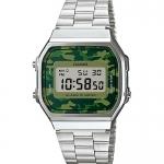 นาฬิกา คาสิโอ Casio STANDARD DIGITAL Vintage Camouflage รุ่น A168WEC-3 หน้าปัดลายพรางทหาร (ไม่มีขายในไทย) ของแท้ รับประกัน 1 ปี