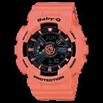 นาฬิกา คาสิโอ Casio Baby-G Girls' Generation Street Neon Duo Color series รุ่น BA-111-4A2 สีแซลมอน salmon