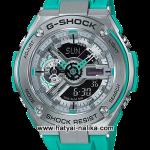 นาฬิกา Casio G-Shock G-STEEL Limited Color GST-410 series รุ่น GST-410-2A สีฟ้าเทอร์ควอย (สีผลิตจำกัดไม่วางขายในไทย) ของแท้ รับประกัน1ปี