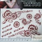 YM-K110 สติ๊กเกอร์สักแฟชั่น sticker tattoo ลายดอก 15.5x10.8 cm