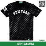 เสื้อยืด 7TH STREET - รุ่น New York พิมพ์ลาย | Black