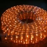 ไฟท่อ LED 3 สาย แบน สีเหลือง เกรด A