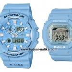 นาฬิกา Casio G-SHOCK x BABY-G เซ็ตคู่รัก Crayon Pastel series รุ่น GAX-100CSA-2A x BLX-560-2 Pair set ของแท้ รับประกัน 1 ปี