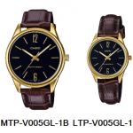 นาฬิกา คาสิโอ Casio SETคู่รัก รุ่น MTP-V005GL-1B+LTP-V005GL-1B ของแท้ รับประกัน 1 ปี