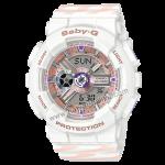 นาฬิกา Casio Baby-G BA-110CH CHANCE series รุ่น BA-110CH-7A (สีงาช้างสายลายริบบิ้น) ของแท้ รับประกัน1ปี
