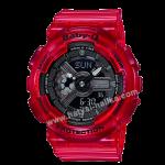 นาฬิกา Casio Baby-G BA-110CR เจลลี่ใส CORAL REEF series รุ่น BA-110CR-4A (เจลลี่แดงทับทิม) ของแท้ รับประกัน1ปี