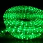 ไฟท่อ LED 3 สาย แบน สีเขียว เกรด A