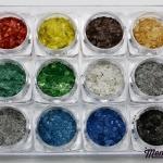 พลาสติกคล้ายเปลือกหอย แบบแผ่นขนาดเล็ก ชุด 12 สี