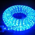 ไฟท่อ LED 3 สาย แบน สีฟ้า เกรด A