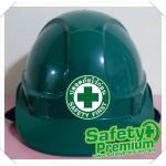 สติ้กเกอร์ติดหมวก Safety First [ สติ้กเกอร์ปลอดภัยไว้ก่อน ]