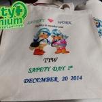 ตัวอย่างถุงผ้า SAFETY DAY พิมพ์ดิจิตอล