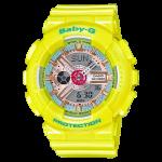 นาฬิกา Casio Baby-G Girls' Generation Sweet Candy Pastel series รุ่น BA-110CA-9A (เหลืองพาสเทล) ของแท้ รับประกัน1ปี