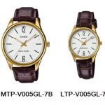 นาฬิกา คาสิโอ Casio SETคู่รัก รุ่น MTP-V005GL-7B+LTP-V005GL-7B ของแท้ รับประกัน 1 ปี