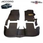 พรมเข้ารูป 6 D Leather Car Mat จำนวน 3 ชิ้น HONDA ACCORD GEN 9 2013-2018