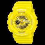 นาฬิกา คาสิโอ Casio Baby-G Girls' Generation Bold Color series รุ่น BA-110BC-9A (สีเหลือง lemon)