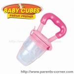 ซิลิโคนใส่อาหารหัดถือทานเอง Baby cubes - สีชมพู