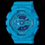 นาฬิกา คาสิโอ Casio G-Shock S-Series Vivid Colors รุ่น GMA-S110VC-2A (สีฟ้าสดเหลือบมุก) ของแท้ รับประกัน1ปี