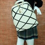 ขายดี! [สีขาวครีม] กระเป๋าเป้สะพายหลัง Z933-1