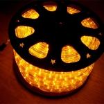 ไฟท่อ LED 2 สาย กลม สีเหลือง 100 M เกรด A