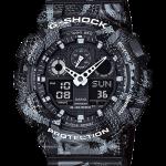 นาฬิกา Casio G-SHOCK x MARCELO BURLON Limited Edition รุ่น GA-100MRB-1A ลายงู (นำเข้า Japan) ของแท้ รับประกัน 1 ปี