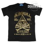 เสื้อยืด OLDSKULL : ACID #05 | สีเทาดิน