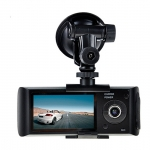 กล้องติดรถ ยนต์ R300 (กล้องหน้า+หลัง+GPS )