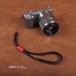 สายกล้องคล้องมือหนังแท้ รุ่น Cam-in Cool Wrist Strap สีดำด้ายแดง