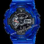 นาฬิกา Casio G-Shock GA-110CR เจลลี่ใส CORAL REEF series รุ่น GA-110CR-2A (เจลลี่สีน้ำทะเล) ของแท้ รับประกัน1ปี