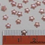 มุกติดเล็บ รูปดาว สีชมพู 4 มิล 50 ชิ้น
