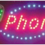 ป้ายไฟ LED Phone คุณภาพเกรด A