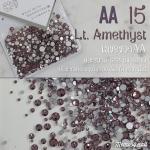 เพชรชวาAA สีม่วงอ่อน Lt.Amethyst รหัส AA-15 คละขนาด ss3 ถึง ss30 ปริมาณประมาณ 1300-1500เม็ด