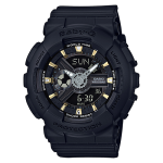 นาฬิกา Casio Baby-G Girl's Generation Gold Attractive Accent series รุ่น BA-110GA-1A (สีดำขีดทอง) ของแท้ รับประกัน1ปี