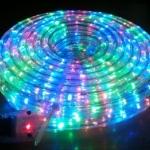 ไฟท่อ LED 3 สาย แบน สีสลับ เกรด A