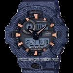นาฬิกา คาสิโอ Casio G-Shock ลายยีนส์ Limited GA-700DE Denim Fabric Elements รุ่น GA-700DE-2A (สี Navy Blue Jean) ของแท้ รับประกัน 1 ปี