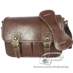 Smart Dark Brown Leather Bag (ขนาดกลาง) (Pre)