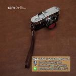 สายคล้องข้อมือกล้องหนังแท้ Cam-in Camera Wrist Strap สีน้ำตาลเข้มด้ายครีม