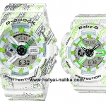 นาฬิกา คาสิโอ Casio G-Shock x Baby-G เซ็ตคู่รัก Textile pattern series รุ่น GA-110TX-7A x BA-110TX-7A Pair set ของแท้ รับประกัน 1 ปี
