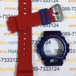 กรอบ สาย นาฬิกา G-shock ของแท้ น้ำเงิน-แดงเงา (DW-6900AC-2)