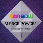 ผงกระจก Mirror Powder Ranbow สีรุ้งเหลือบม่วงชมพู