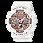 นาฬิกา คาสิโอ Casio G-Shock มินิ S-Series Metal Face sereis รุ่น GMA-S120MF-7A2 (สีขาวพิ้งค์โกลด์) ของแท้ รับประกัน1ปี
