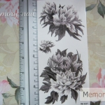 YM-X227 สติ๊กเกอร์ลายสัก tattoo ลายดอกไม้ 18 x 7 cm