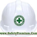 สติ้กเกอร์ติดหมวกแข็ง Health and Safety Committee member