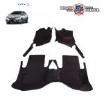 พรมรถยนต์ 6 D Leather Car Mat จำนวน 3 ชิ้น HONDA ALL NEW CITY 2014-2019